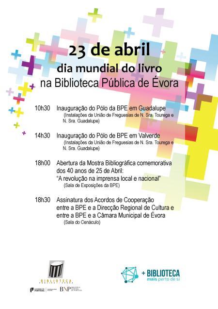 23 de Abril, dia mundial do livro, na BPE