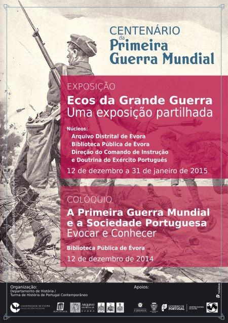 1. Cartaz Centenário da Primeira Guerra Mundial em Évora - Colóquio e Exposição